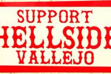 """SUPPORT HELLSIDE VALLEJO"" STICKER"