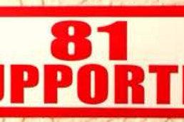 """""""81 SUPPORTER"""" STICKER"""