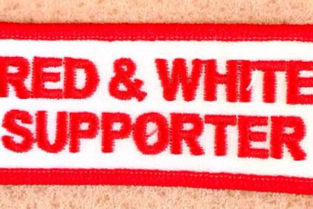 """RED & WHITE SUPPORTER"" PATCH"