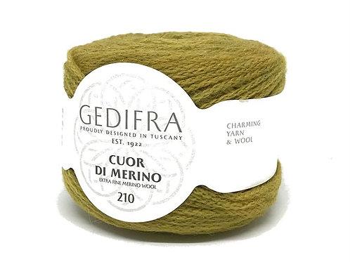 CUOR DI MERINO 210 Gedifra 032 (горчица)