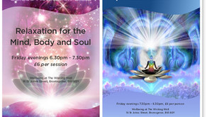 Meditation Classes restart this Friday, 13th March. 6.30 - 7.30 and 7.30 - 8.30ish