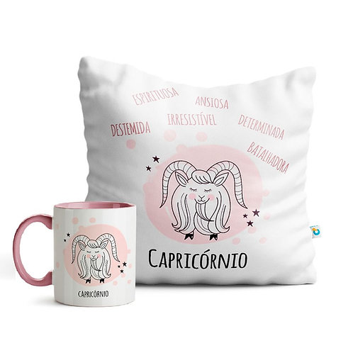 Kit Almofada e Caneca rosê