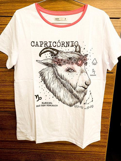Camiseta Branca Capricórnio