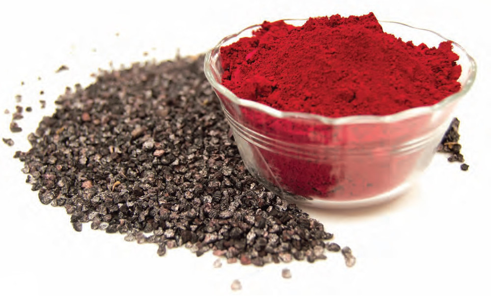 Carmine powder and cochineals.: Source DDW Color
