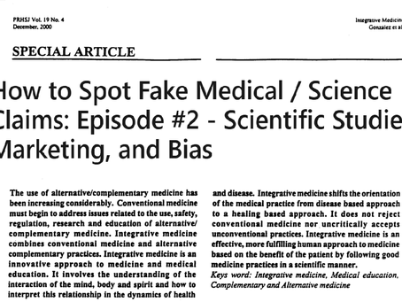 How to Spot Fake Medical / Science Claims: Episode #2