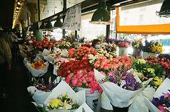 pike place, seattle, washington, tulips