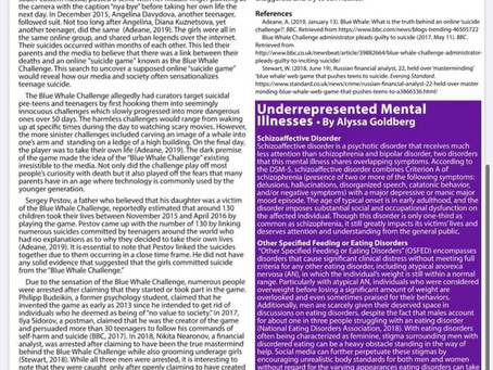 Underrepresented Mental Illnesses - NYU CAMS Newsletter (Spring 2020)