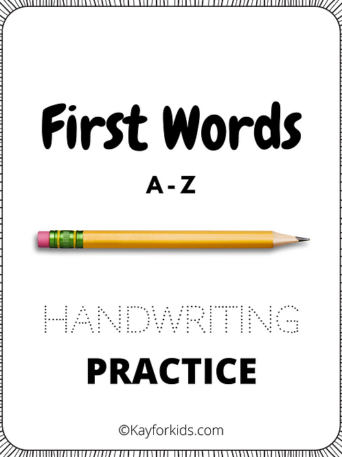 First Words A-Z Handwriting Practice