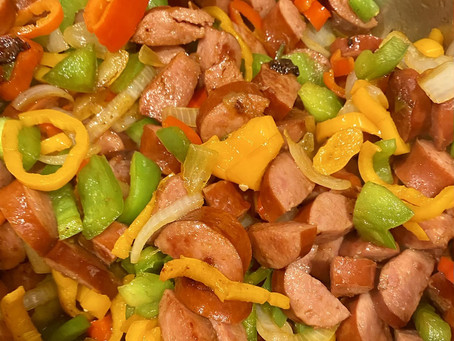 25. Sausage and Peppers with Sautéed Green Beans