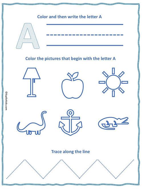 Pre-K and Kindergarten Alphabet Workbook
