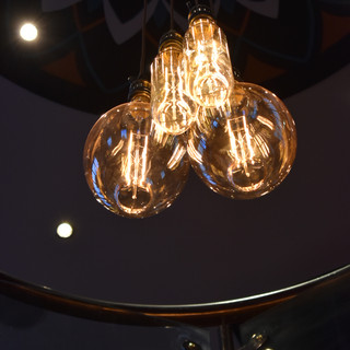 Hanging filament bulbs