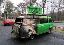 Brandanschlag auf unser Demokratiemobil