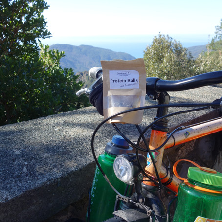 Cycling around the world: Powered by Protein Balls.