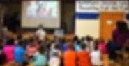 Grand Rapids, MI, Author Melissa Yeomans presenting children's book RUN DOG! RUN! (an adventure)