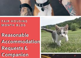 Reasonable Accommodation Requests & Companion Animals