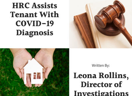 HRC Assists Tenant with COVID-19 Diagnosis