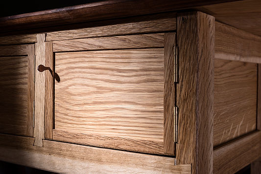 white oak coat cabinet