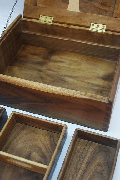 heirloom dovetailed jewelry box  fine handmade furniture