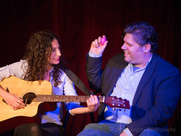 rachel + dave in late bloomers at the austin sketch fest 2015 - steve rogers photography