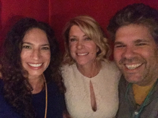 rachel & dave back stage with wendy davis!!!! out of bounds comedy festival 2017