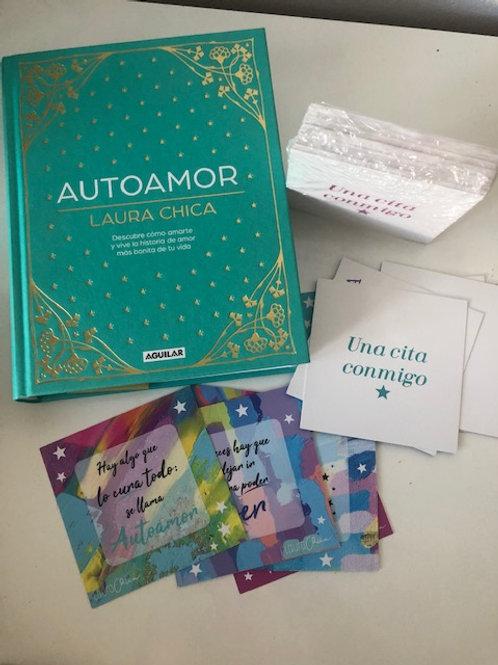 Pack Libro Autoamor y cartas inspiradoras