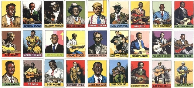 heroes of blues jazz & country