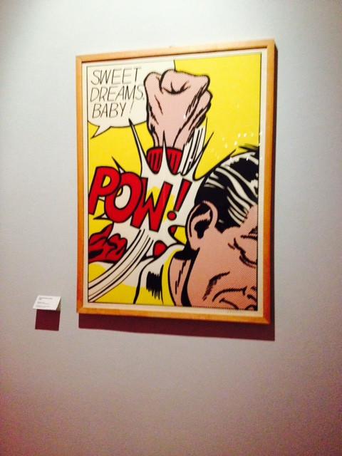 Il Roy Lichtenstein di proprietà della GAM, quello che ti saluta prima di uscire.