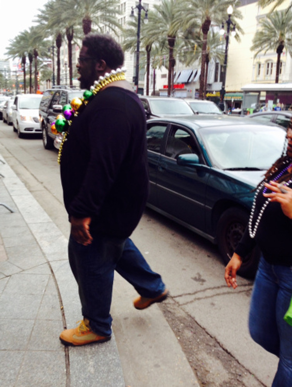 people of nola during mard gras