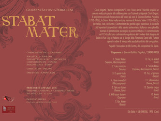 Musica e Artigianato: Stabat Mater Pergolesi | Salieri
