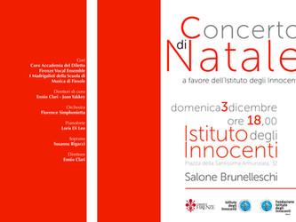 Concerto di Natale a favore dell'Istituto degli Innocenti