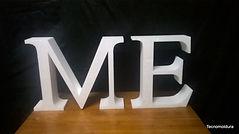 Letras para comunicação visual, letras grandes de isopor, letra caixa em EPS