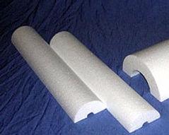 EPS em calhas para isolação térmica, recorte de calhas de isopor diametros variados