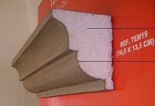 Moldura em isopor revestida - Moldura EPS - Tecnomoldura