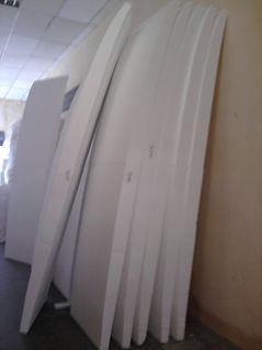 EPS recortado para fabricação de pranchas de surf