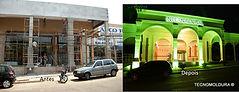 Obra com uso de molduras antes e depois, molduras de EPS, molduras isopor