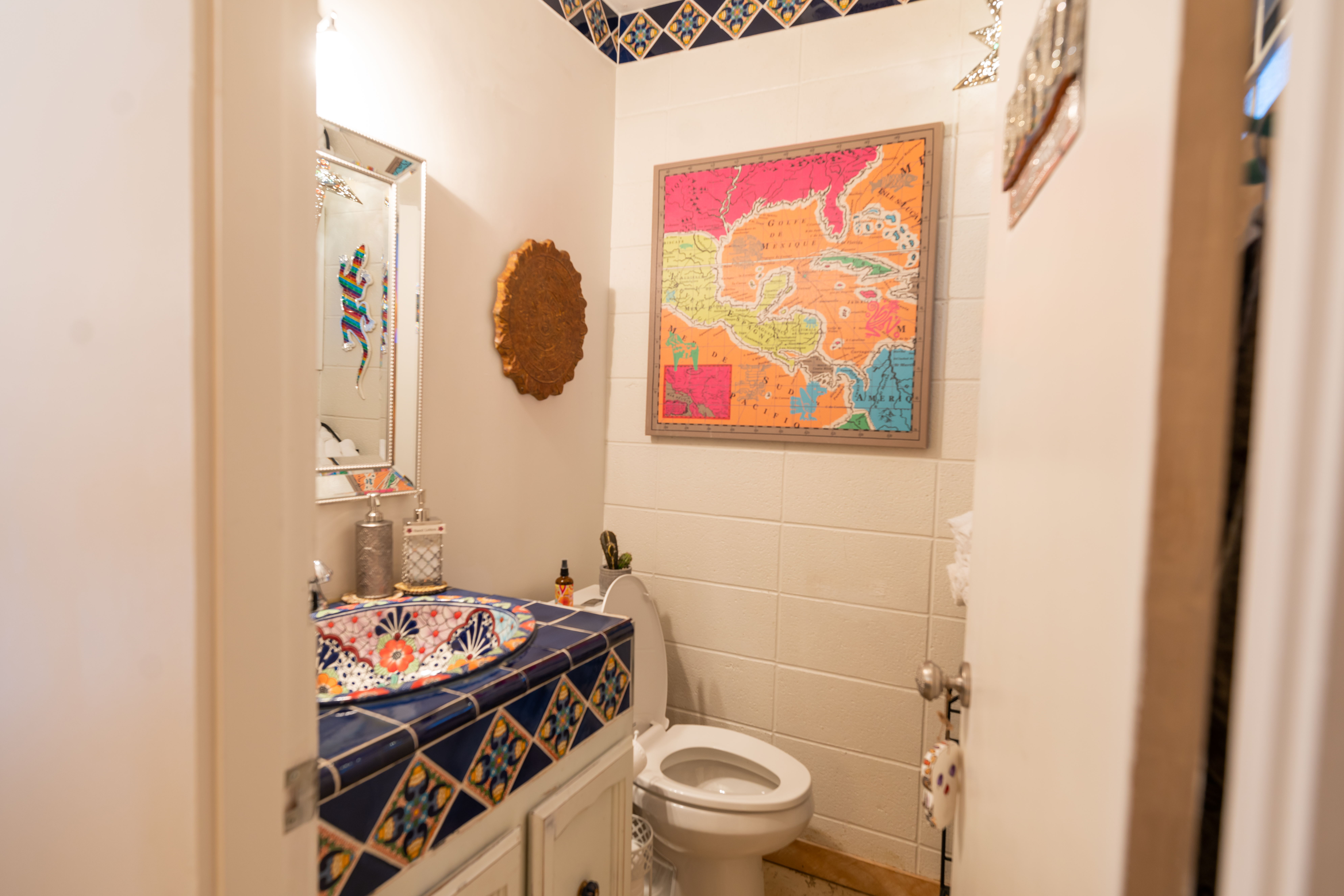 Our precious baño, because we love Mexico!