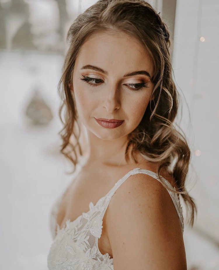 bridal makeup done using clean and cruelty-free beauty products