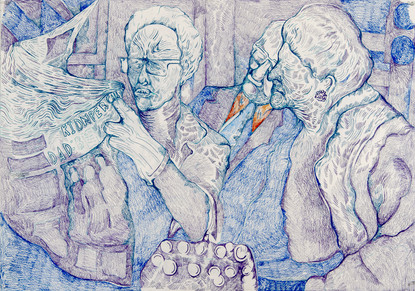 Small group (2020) Colour pencils on pap