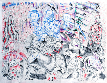 My Father's Birth (2010) Pastel on Canvas