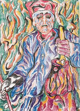 Fisherman 2014 Pastel on Paper