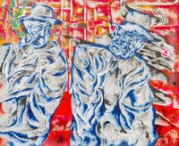 Street fellows (2109) Acrylic on canvas