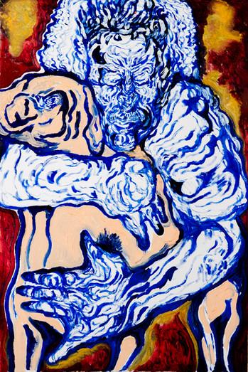 Embrace 2 (2015) Acrylic on Paper