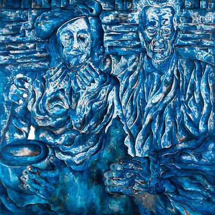 Odd Couple 2013 Acrylic on Canvas