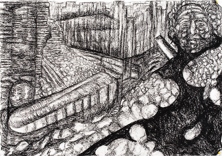 Labyrinth 2014 Charcoal on Paper