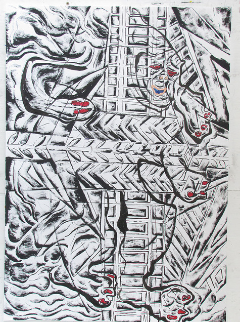 The Construction of Man 2016 Ink on Paper