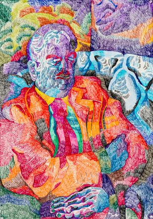 Portrait (2020) Colour pencils on paper,