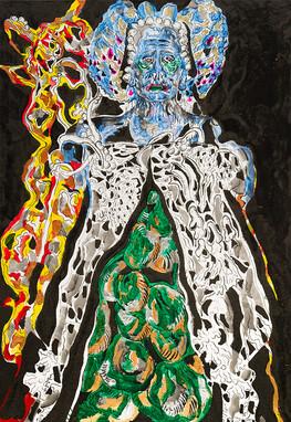 Homage to Alexander McQueen 2014 Acrylic on Canvas