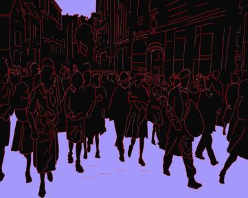 Homage to Robert Cappa, 2018, Digital Art