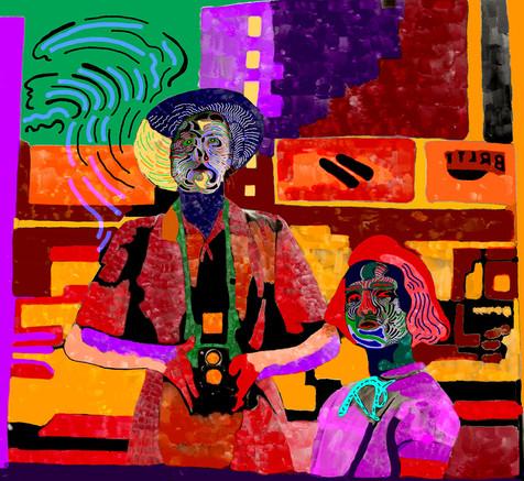 Downtown 4 (2019), digital art on paper