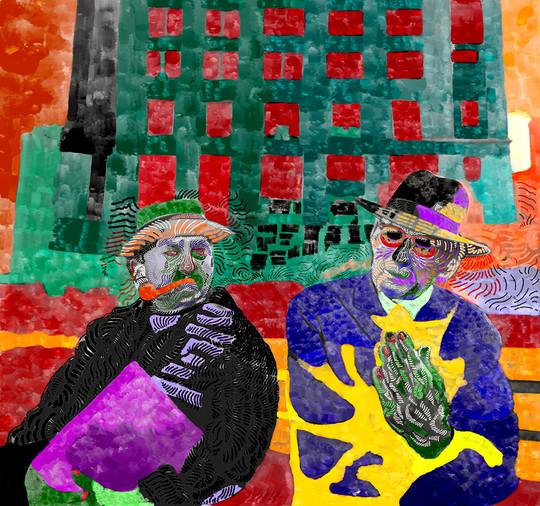 Friends (2019), digital art on paper